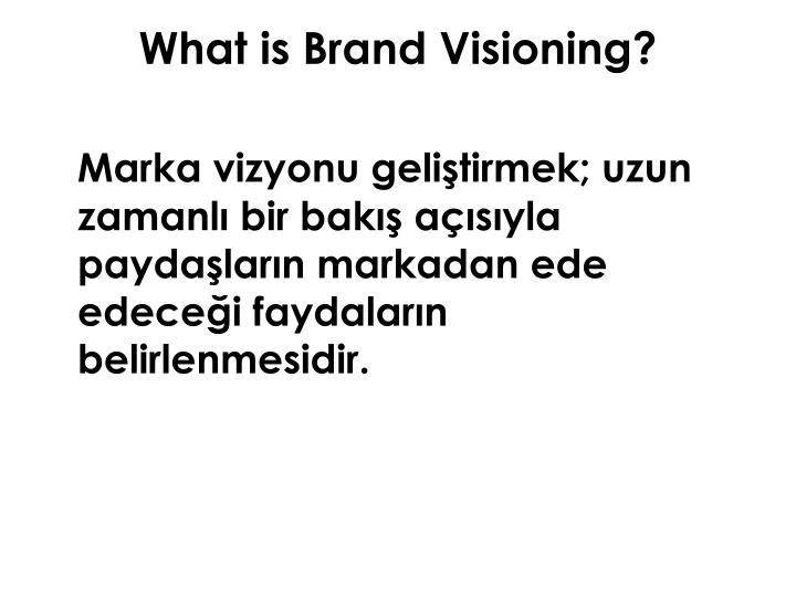 What is Brand Visioning?