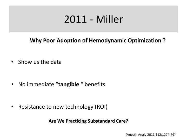 2011 - Miller