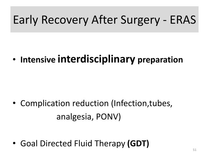 Early Recovery After Surgery - ERAS