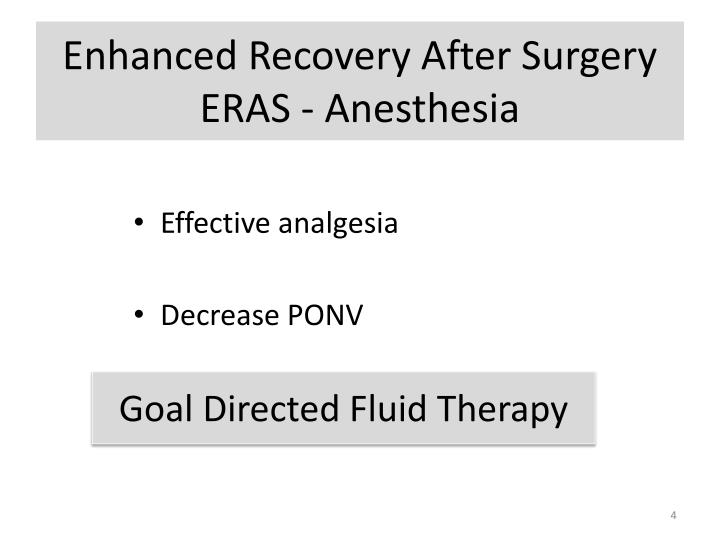 Enhanced Recovery After Surgery