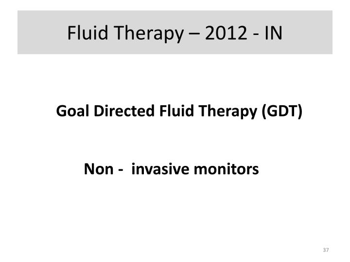 Fluid Therapy – 2012 - IN