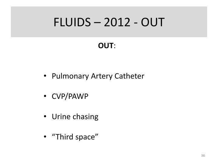 FLUIDS – 2012 - OUT