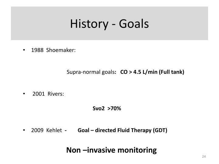 History - Goals