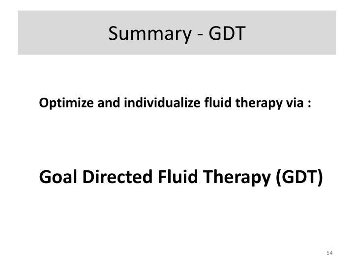 Summary - GDT