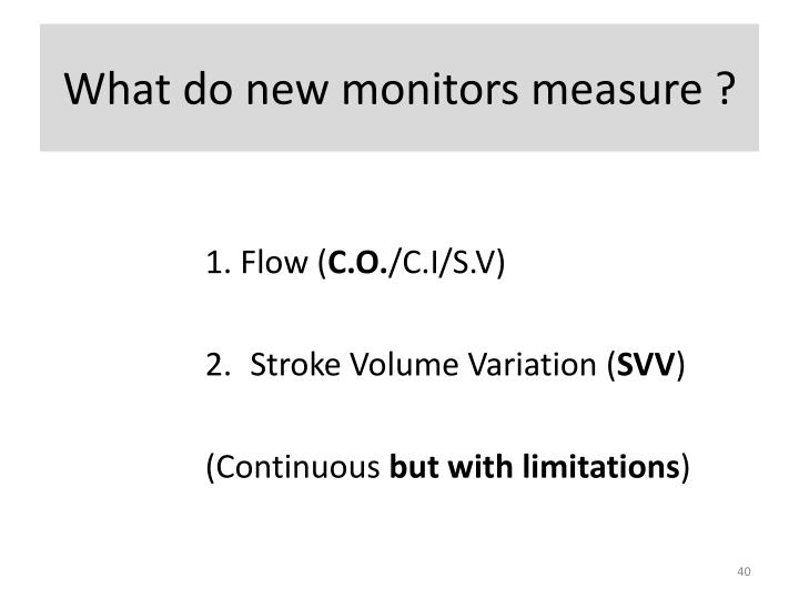 What do new monitors measure ?