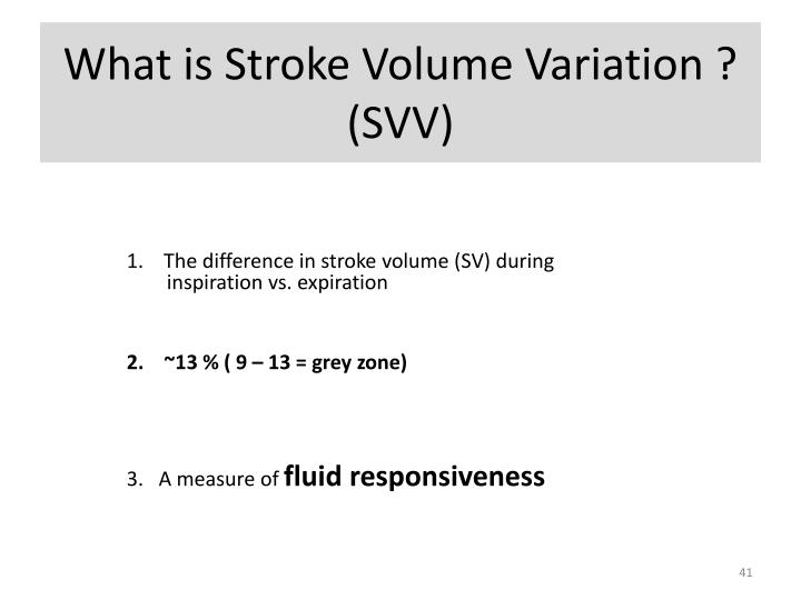 What is Stroke Volume Variation ?