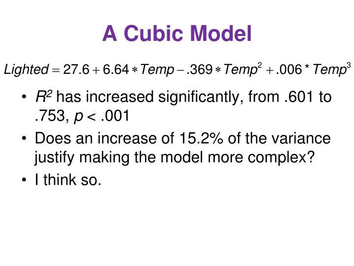 A Cubic Model