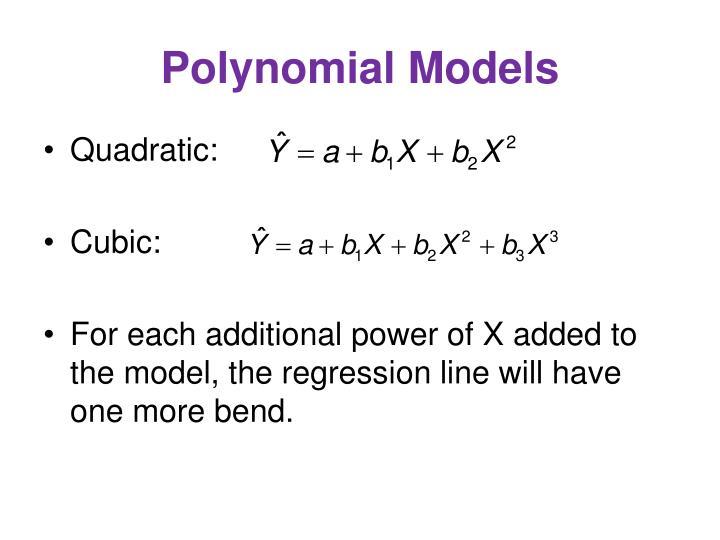 Polynomial Models