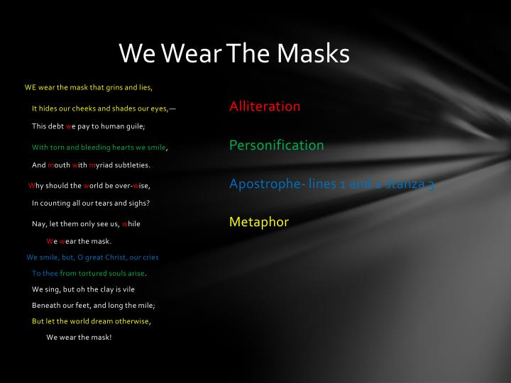 We Wear The Masks