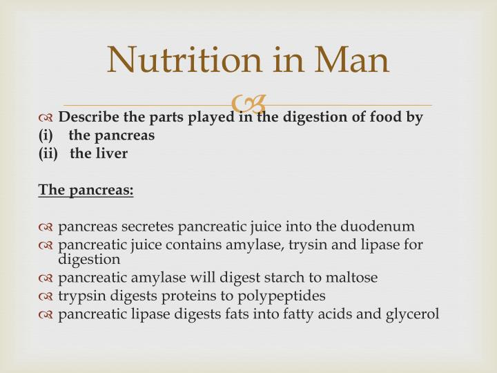 Nutrition in Man