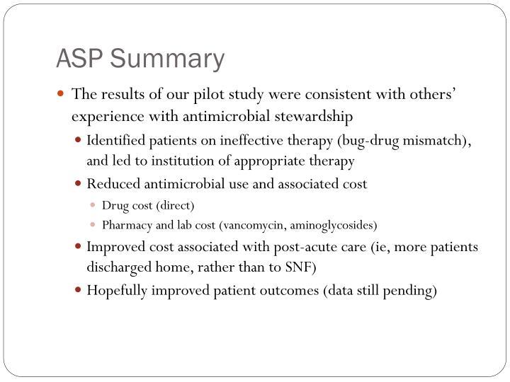 ASP Summary
