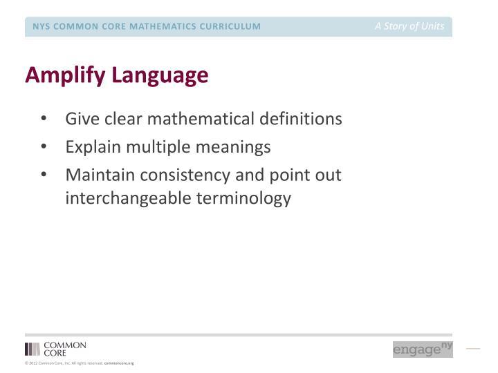 Amplify Language