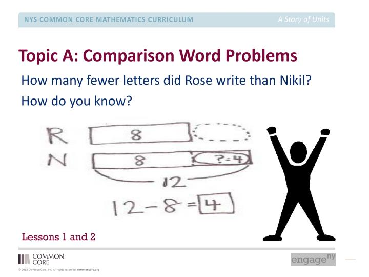 Topic A: Comparison Word Problems