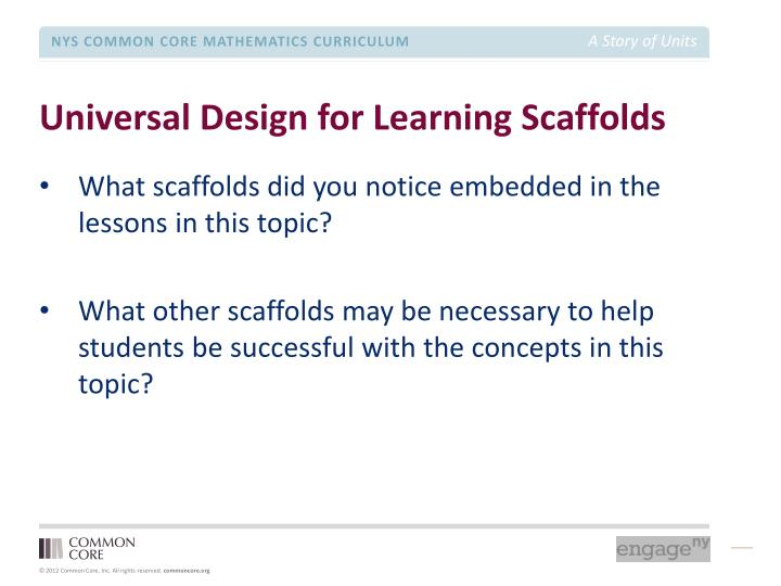 Universal Design for Learning Scaffolds