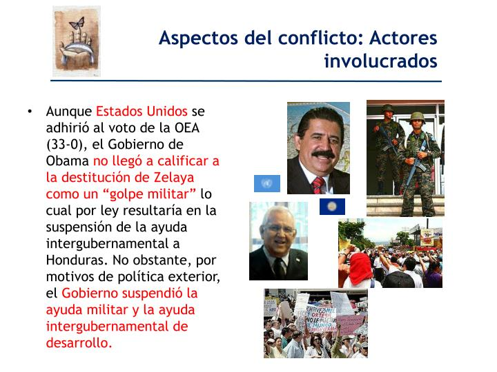 Aspectos del conflicto: Actores involucrados