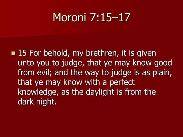 Moroni 7:15–17