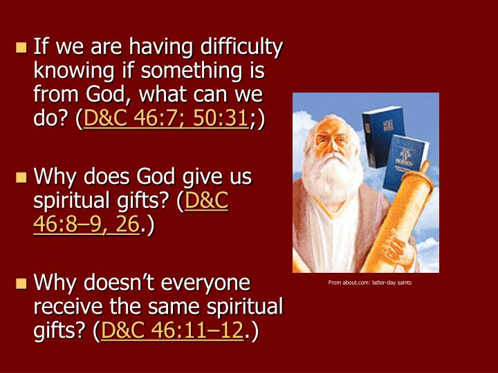 If we are having difficulty knowing if something is from God, what can we do? (