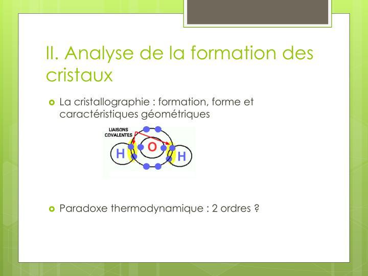 II. Analys