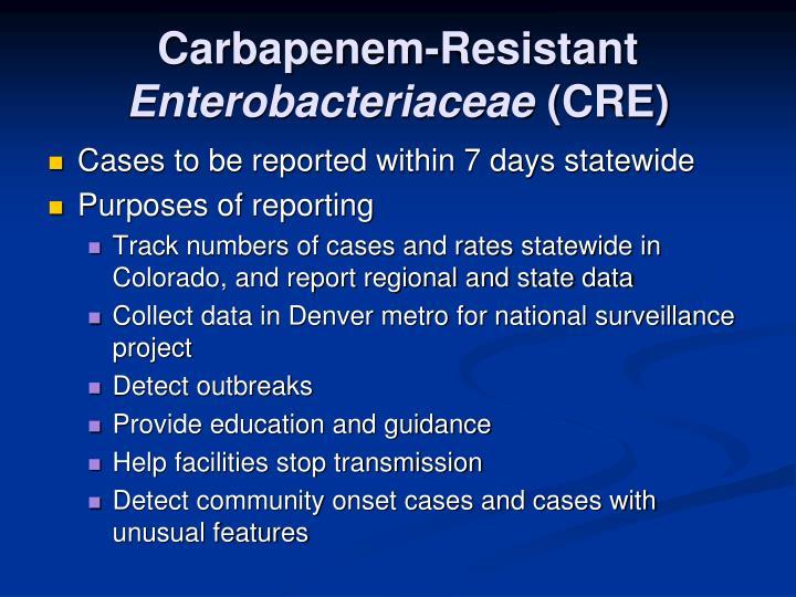 CRE (Carbapenem-Resistant Enterobacteriaceae) foto