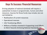 keys to success financial resources