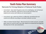 youth rules plan summary1