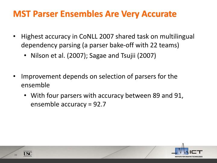 MST Parser Ensembles Are Very Accurate