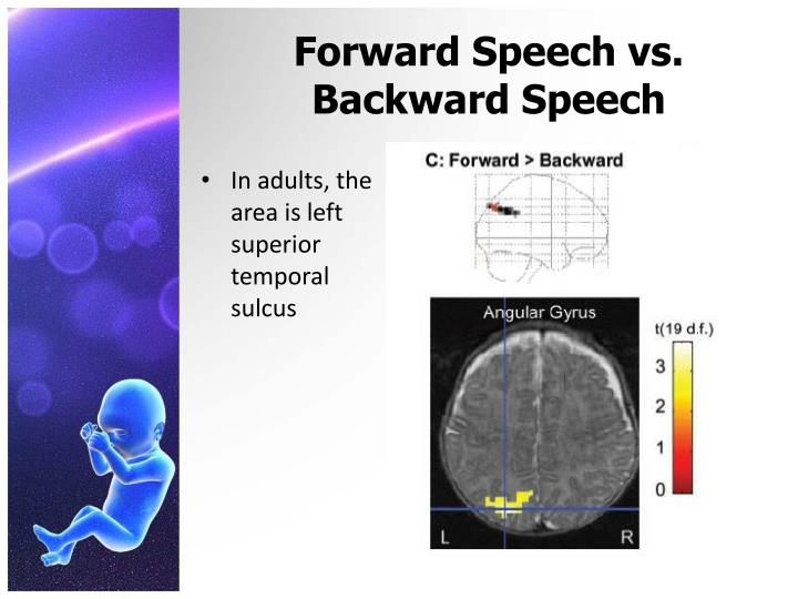 Forward Speech vs. Backward Speech