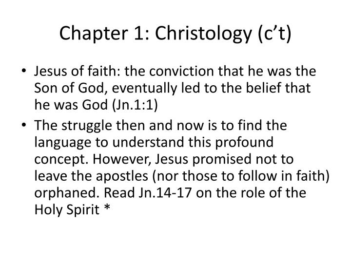 Chapter 1 christology c t