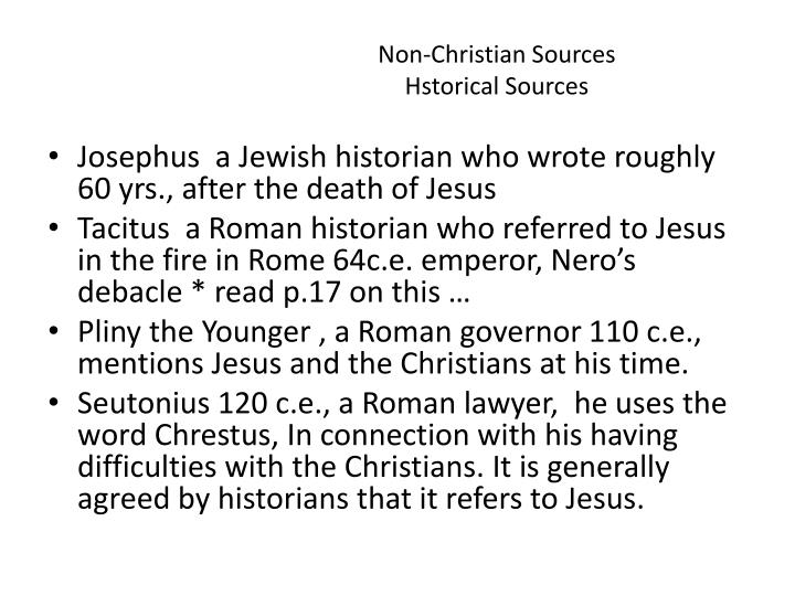 Non-Christian Sources