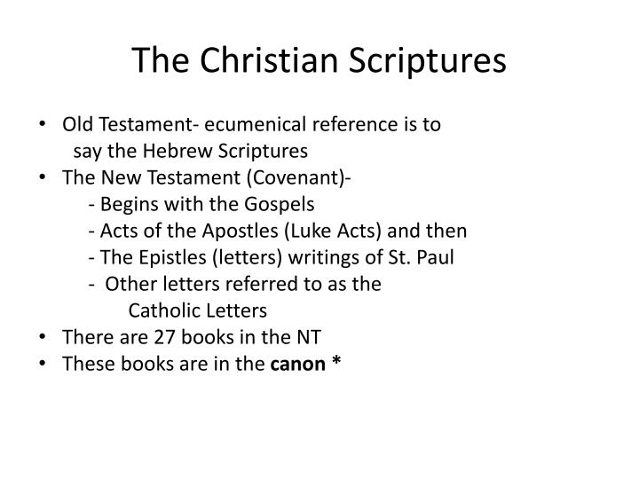 The Christian Scriptures