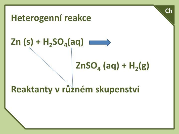 Heterogenní reakce