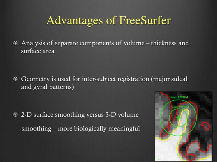Advantages of FreeSurfer