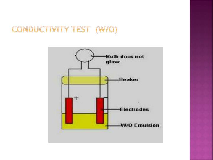 Conductivity Test  (W/O)