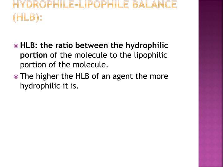 Hydrophile-Lipophile