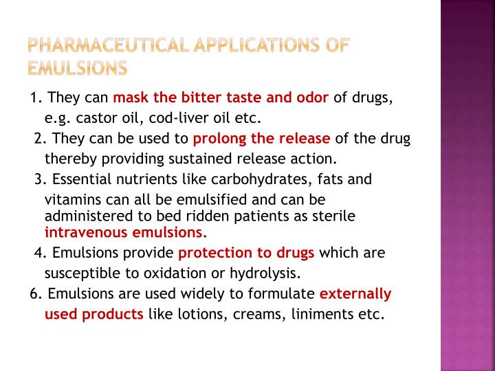 Pharmaceutical applications of
