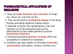 pharmaceutical applications of emulsions