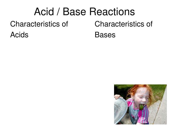 Acid / Base Reactions