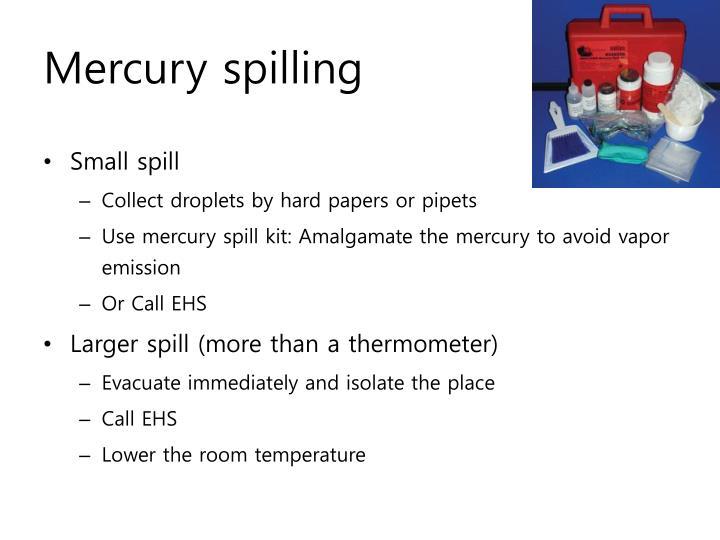 Mercury spilling