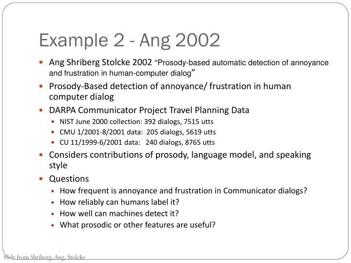 Example 2 - Ang 2002