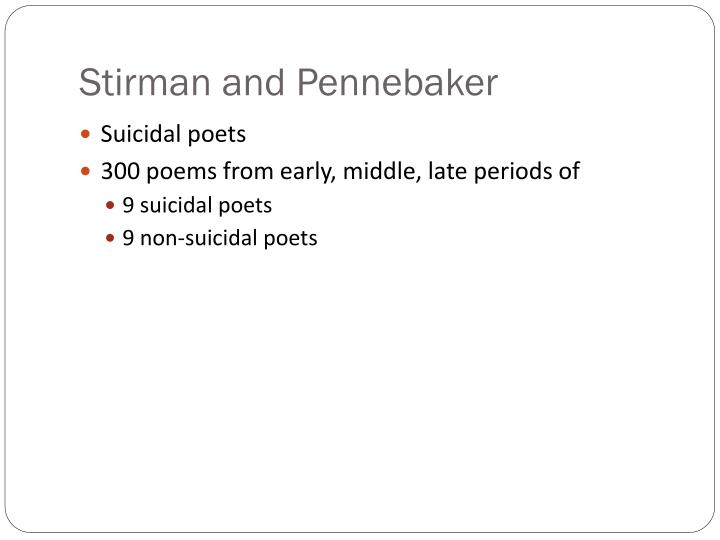 Stirman and Pennebaker