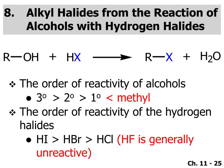 Alkyl Halides from the Reaction of