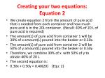 creating your two equations equation 2