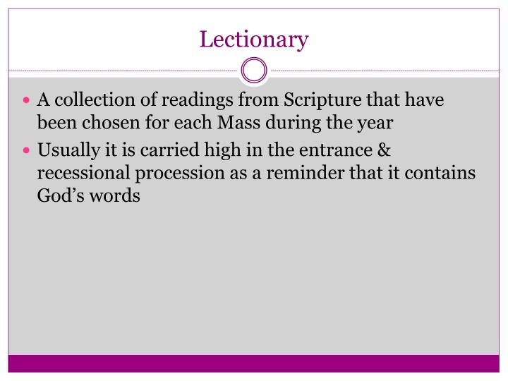 Lectionary