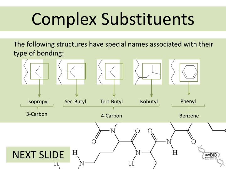 The following structures have special names associated with their type of bonding: