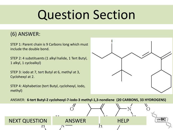 (6) ANSWER:
