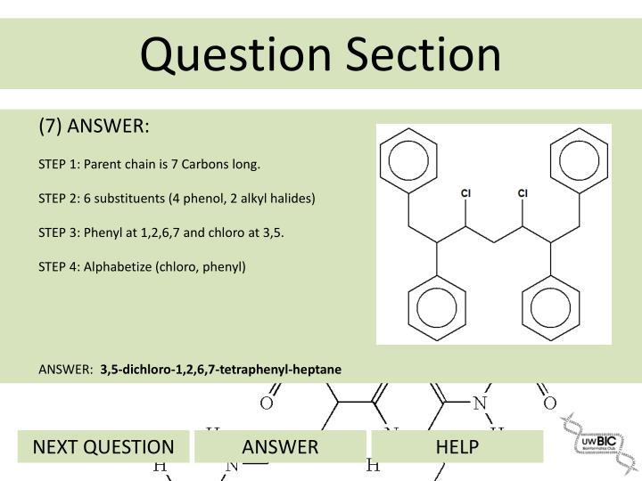 (7) ANSWER: