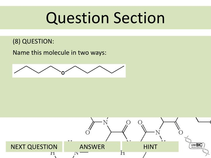 (8) QUESTION: