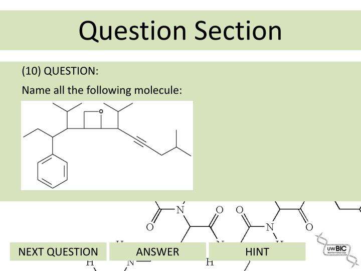 (10) QUESTION:
