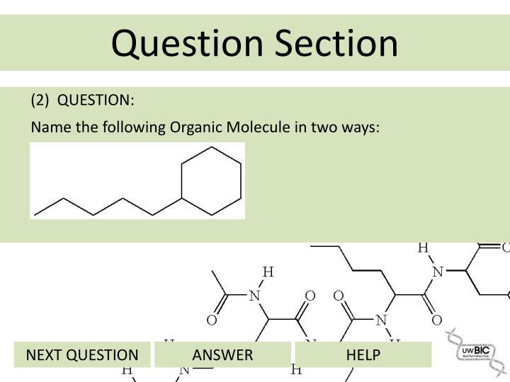 (2)  QUESTION: