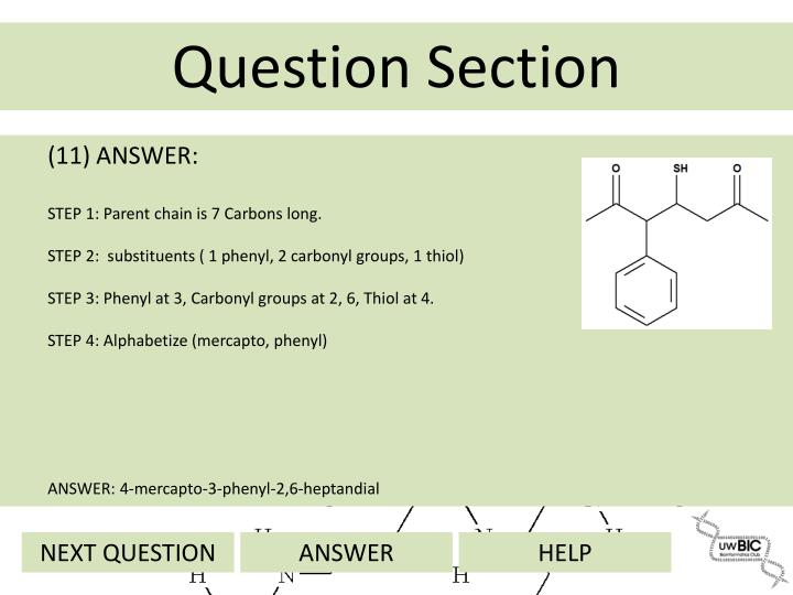 (11) ANSWER: